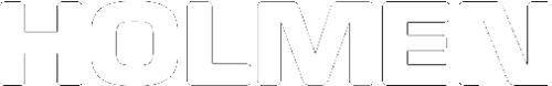 Holmen logotype vit