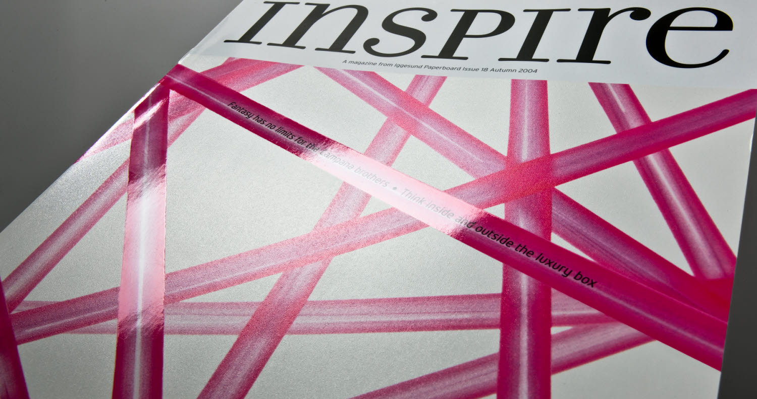 inspire 18 cover in white and pink varnish