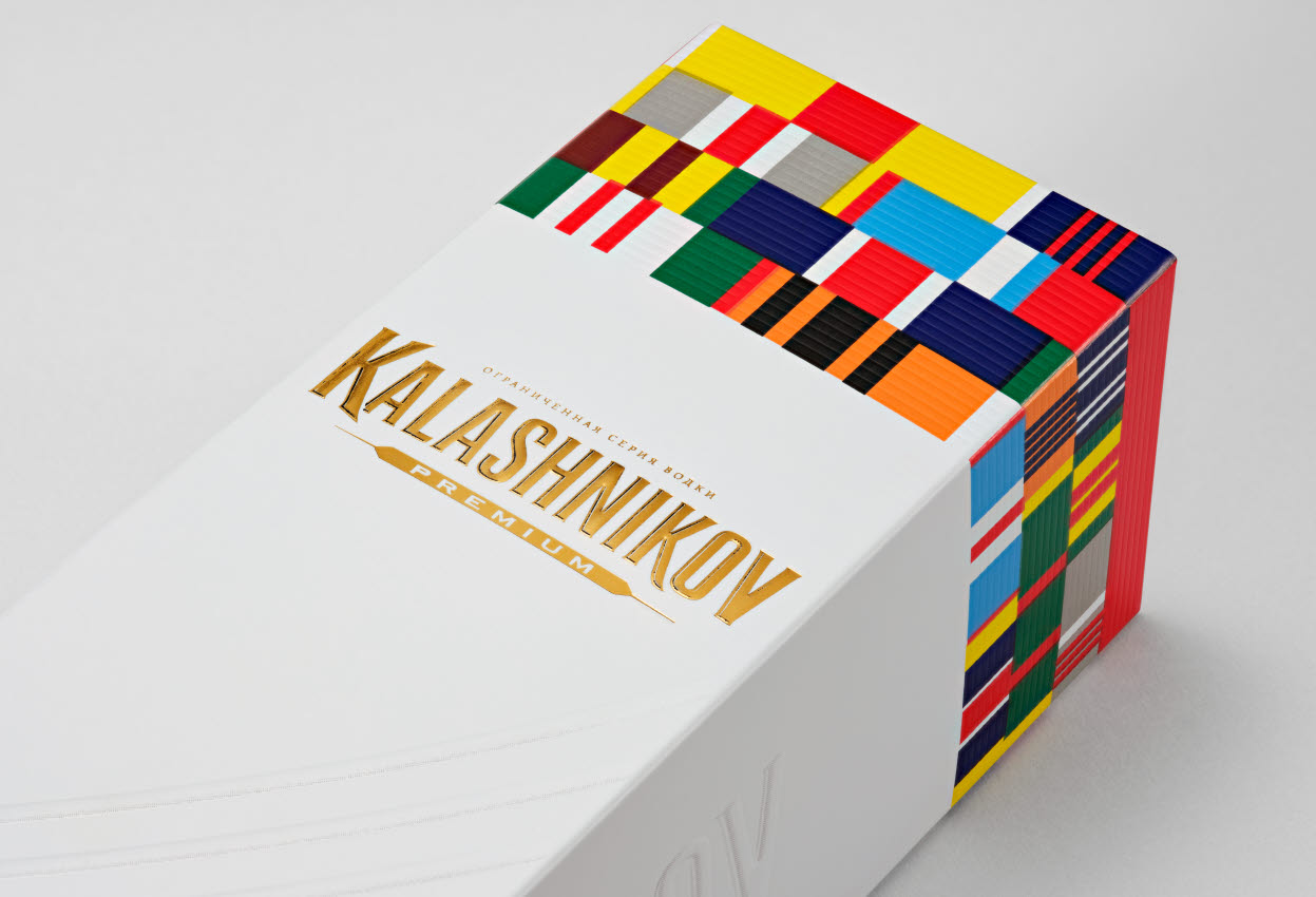 kalashnikov packaging for vodka
