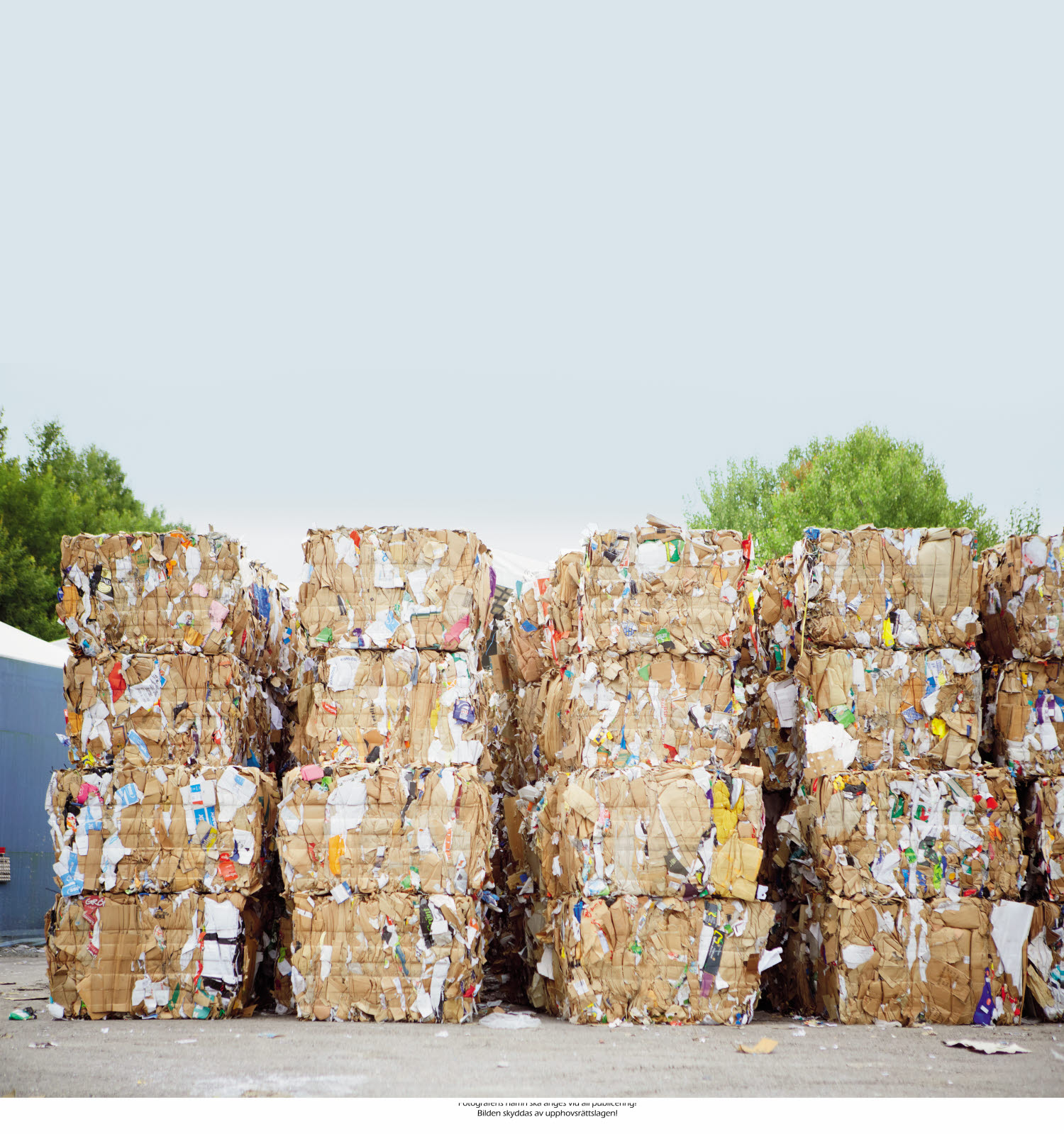 Piles of recycled garbage