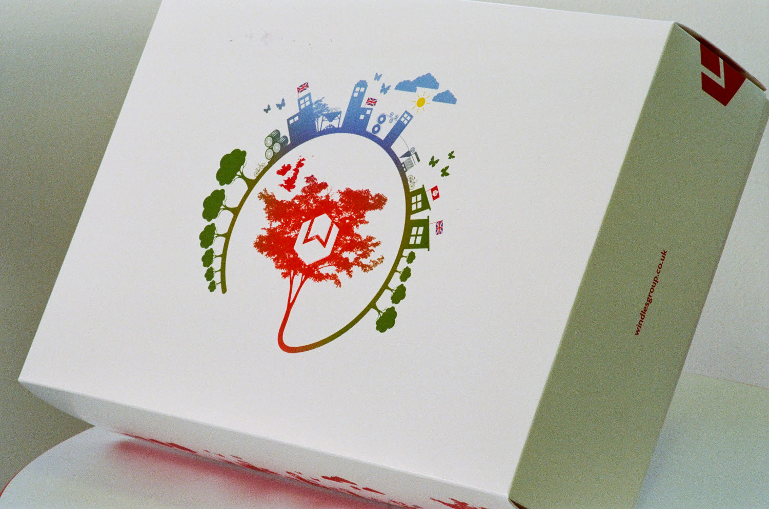Sustainable greeting card made of Incada
