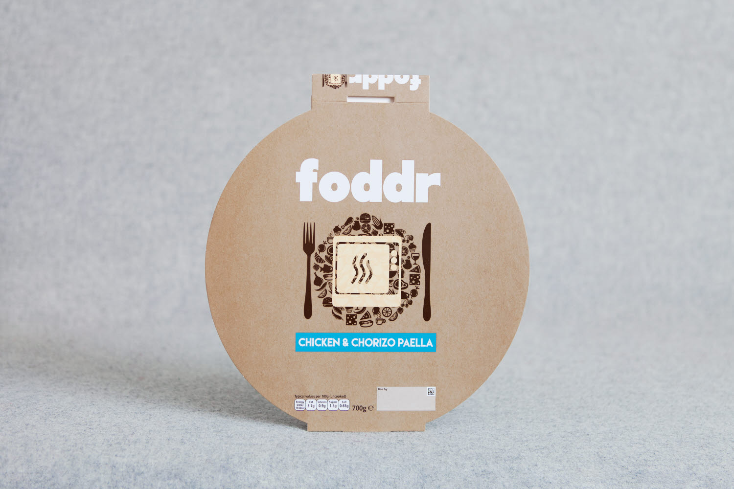 Foddr delivery packaging made of paperboard