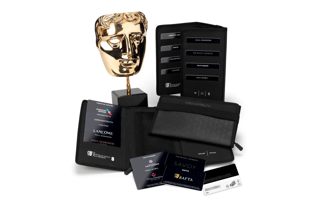 Gifting wallet of paperboard gift cards for EEBAFTA's