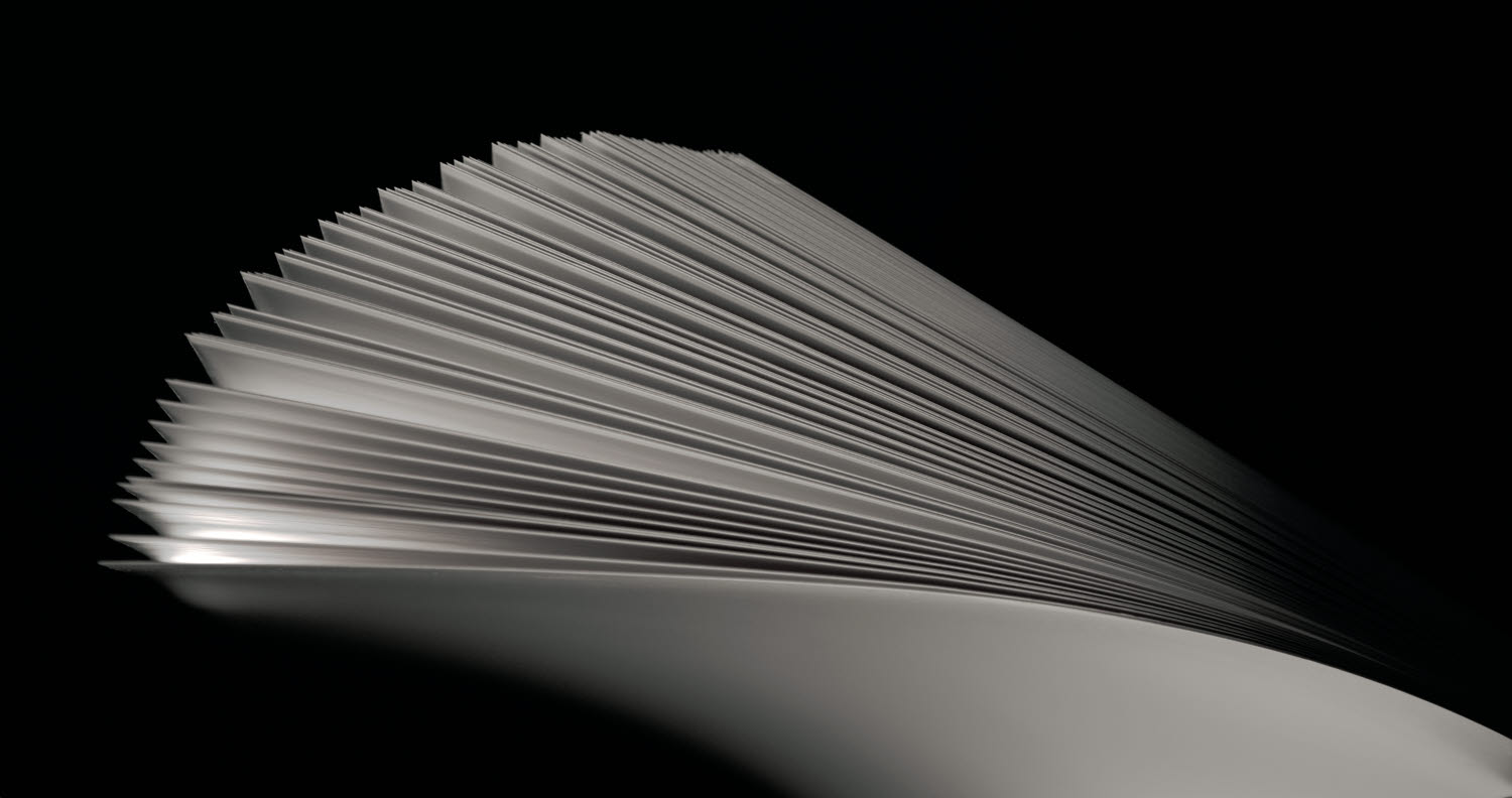 Close up of paperboard sheets