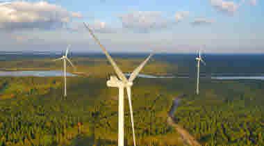 Varsvik windfarm outside Hallstavik
