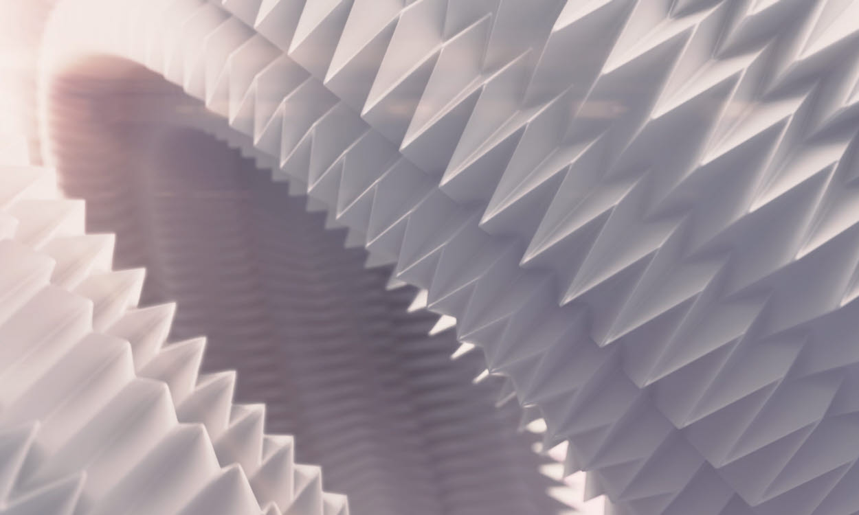 paperboard folding art in close-up