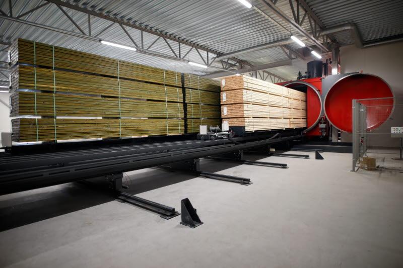 Wood treatment plant at Braviken Sawmill
