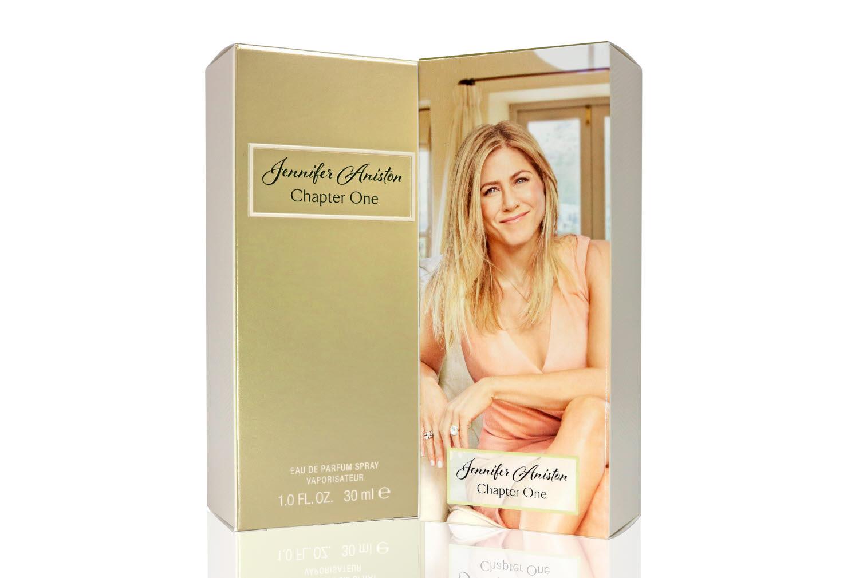 Jennifer Aniston chapter one fragrance packaging