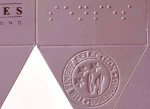 Embossing examples on paperboard box