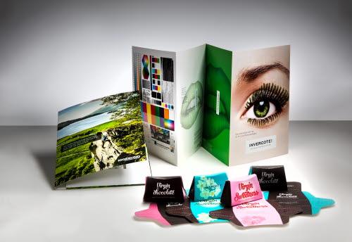 Digital print sample folder and inspirational samples