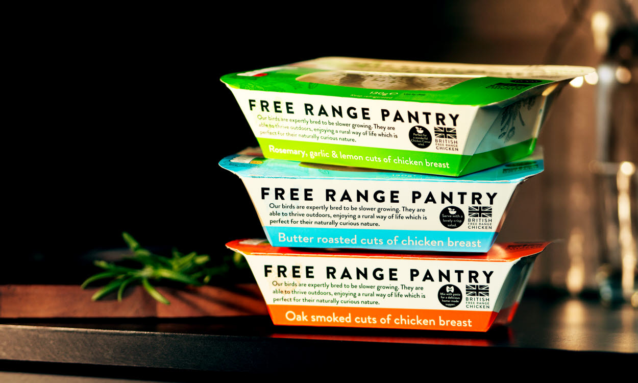 Free Range Pantry collection packaging