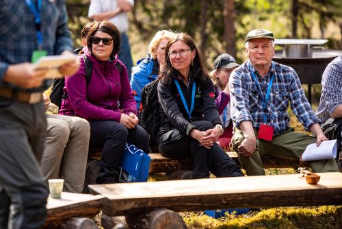 Vid invigningen av Kunnådalens kunskapsskog