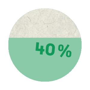 40 per cent graphics