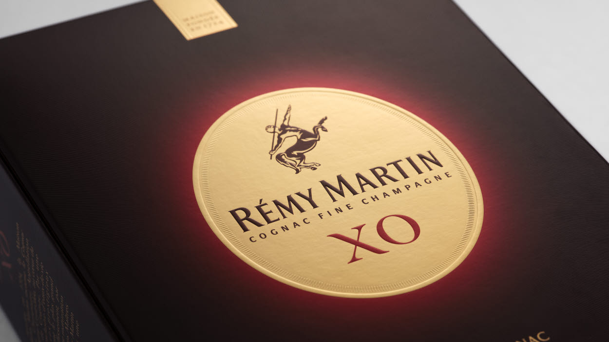 invercote packaging for remy martin cognac