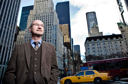 Richard Osterlindh standing in a New York City street