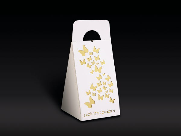 Paperboard box example with lasercut decor
