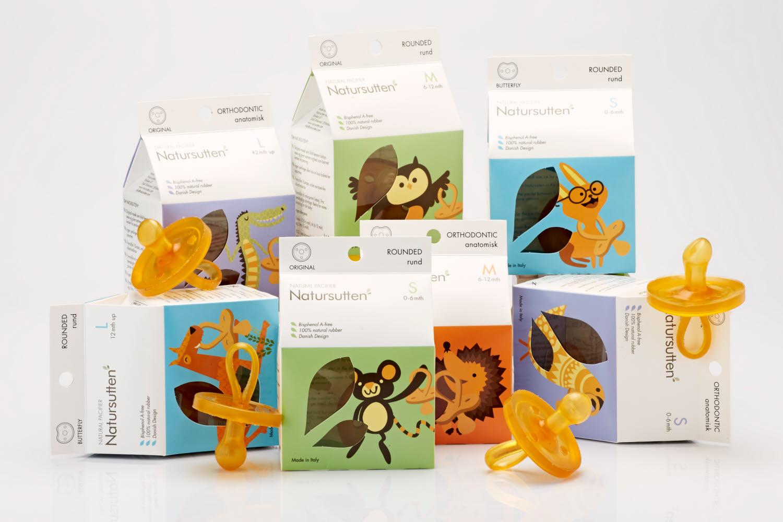 Natursutten pacifiers inspirational packaging design