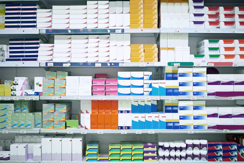 Shelves of MedTech packaging