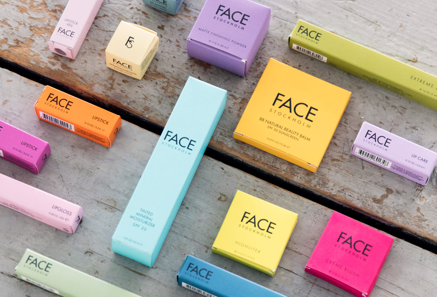 face stockholm colorful packaging in different sizes