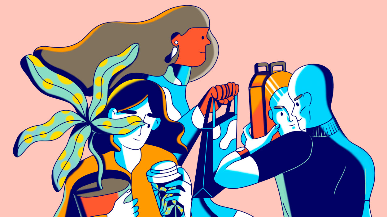 illustrations of colorful people from inspire 63
