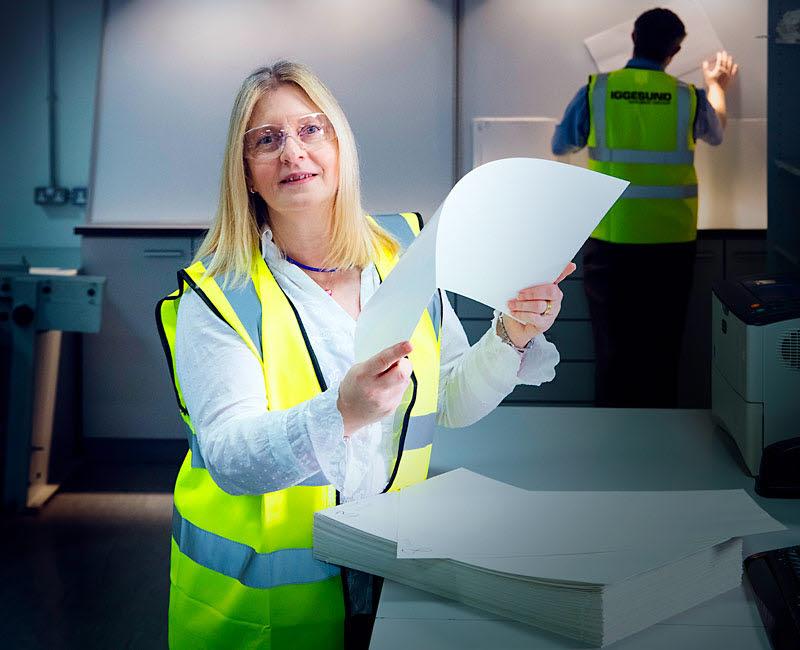 Linda Calvert, Head of technical service at Iggesund