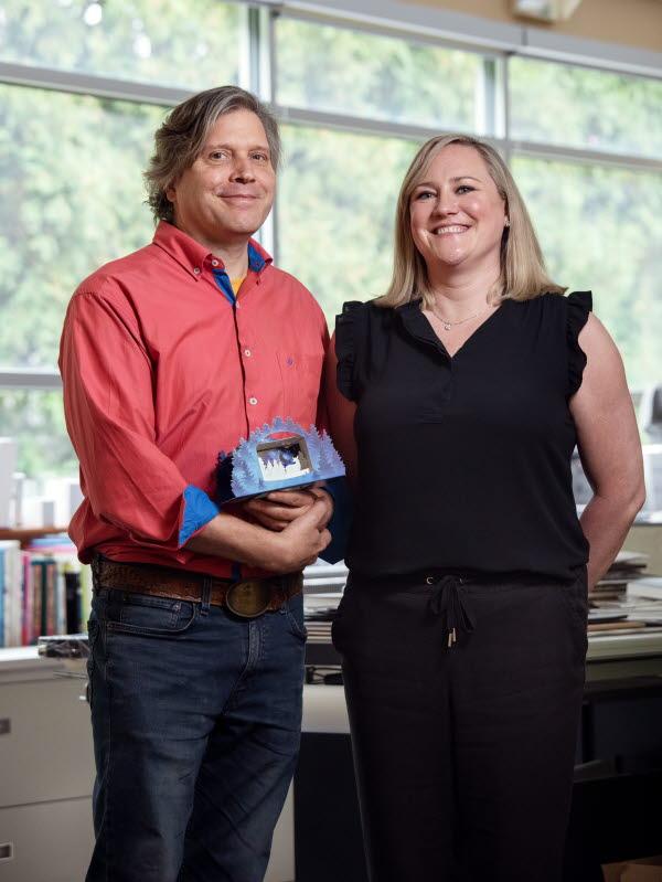 Erik Hluchlan and Erin Fudge
