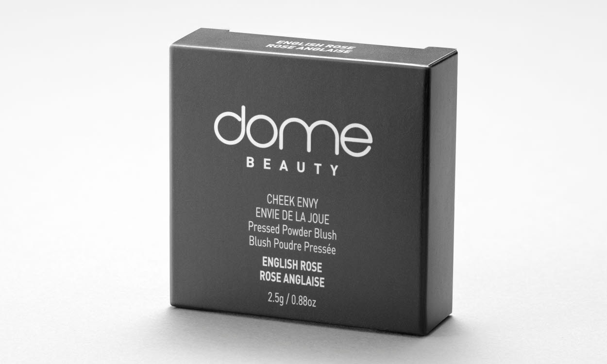 dome beauty grey paperboard packaging
