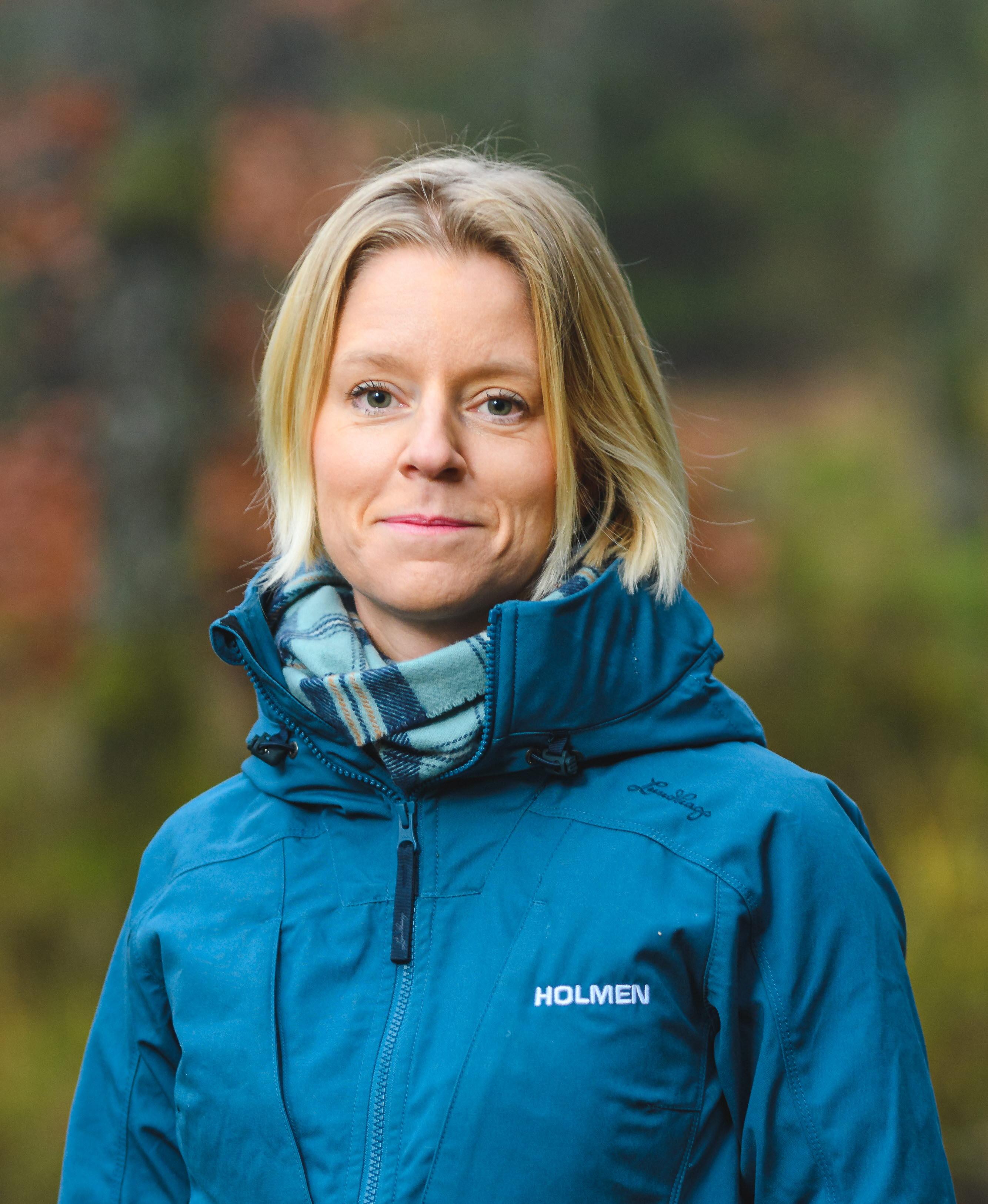 Anna Baglioni som är regionchef på Holmen Skog Syd