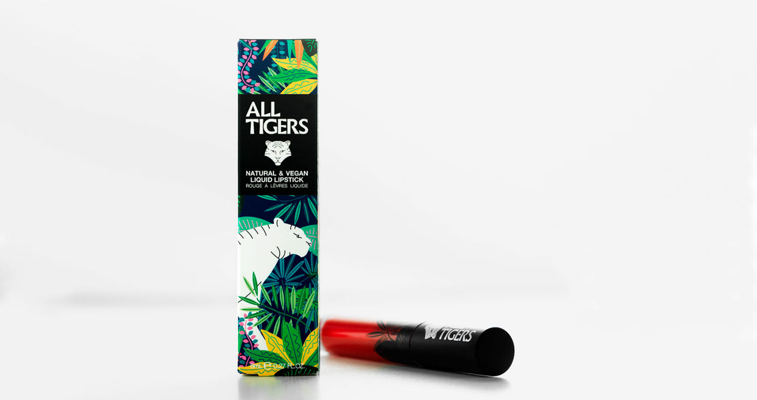 colorful lipstick packaging for all tigers